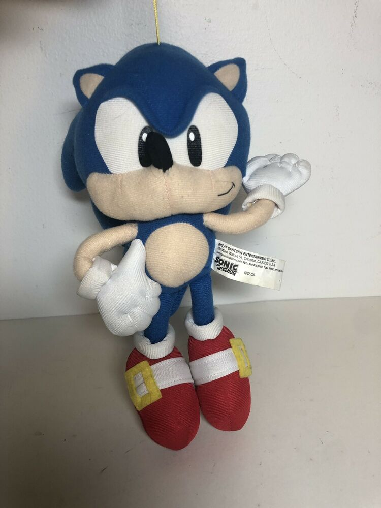 Find Many Great New Used Options And Get The Best Deals For Ge Sonic The Hedgehog Plush Doll Great Eastern Stuffed Toy 11 At Plush Dolls Plush Boy Toy Gifts