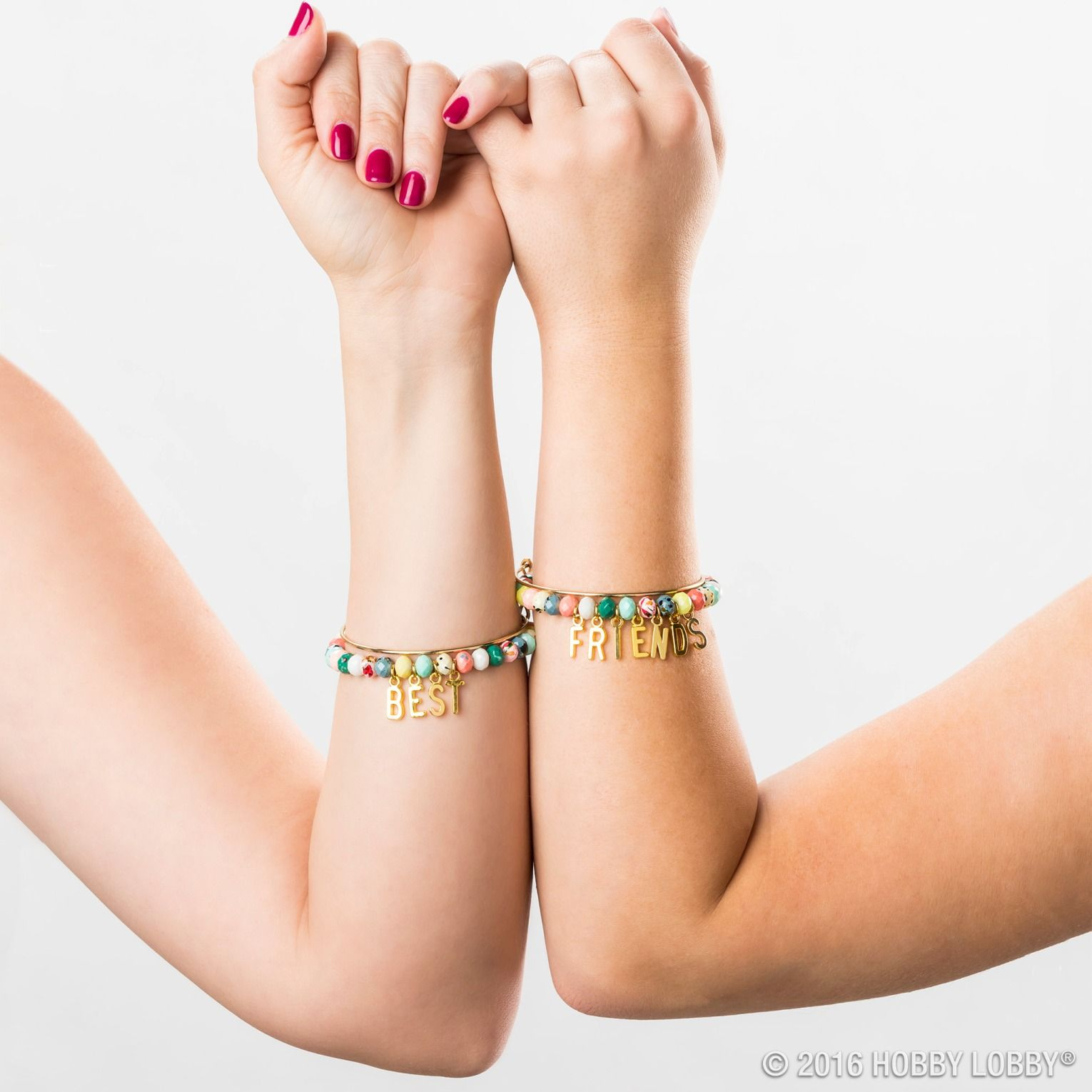 Tell Your Best Friend They Re Forever With A Diy Friendship Bracelet Just Add Beads And Gold Accessories Diy Jewelry Friendship Bracelets Diy Best Friend Day