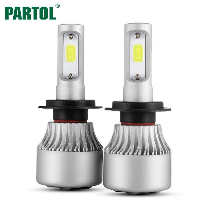 Partol S2 Udara H7 Svetodiodnye Fary 72 Vt 8000lm Vodit Avtomobil H11 H1 H3 Fary Dlya Avtomobilya Lampy Fary Protivotuma Headlight Bulbs Car Led Led Headlights