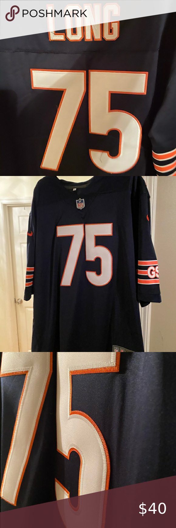 Chicago Bears Kyle Long Authentic Jersey Chicago Bears Long #75 ...