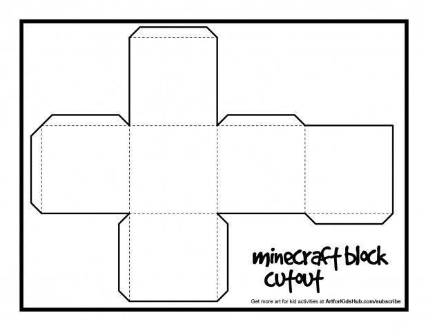 Free Papercraft Minecraft Block Cutout Minecraft