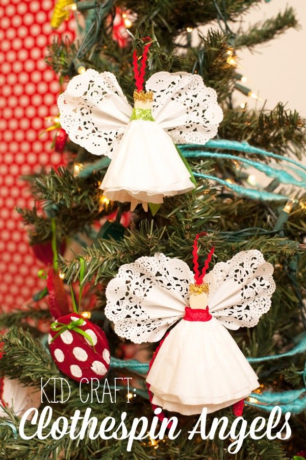 Angel Ornaments For Christmas Tree.Kid Craft Angel Ornaments Christmas Christmas Crafts