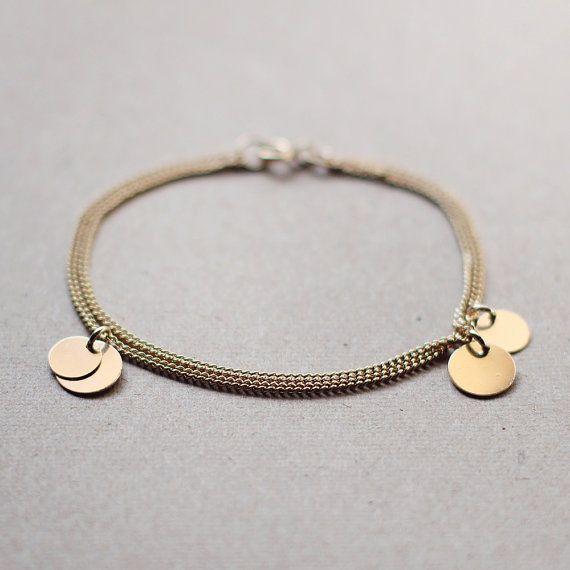Bellissima Bracelet Handmade 14k Gold Filled Coin Bracelet Gift