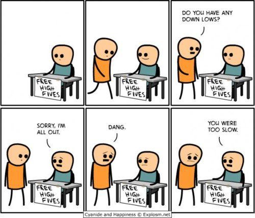 Free High Fives Cyanide And Happiness Funny Comics Funny Memes