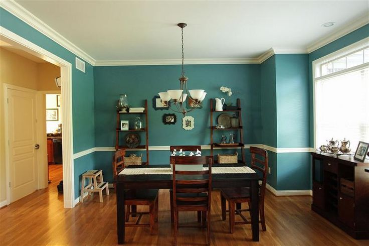 Dark greenteal dining room dining room Pinterest Room Teal