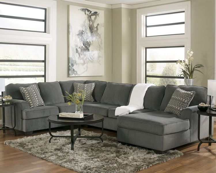 Excellent Loric Smoke U Shape Fabric Sectional Home Living Room Unemploymentrelief Wooden Chair Designs For Living Room Unemploymentrelieforg
