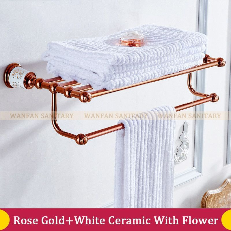 Wholesale And Retail NEW Golden Brass Wall Mounted Bathroom ...
