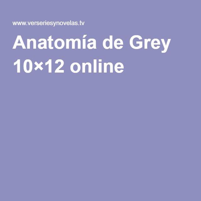 Anatomía de Grey 10×12 online   series   Pinterest   Anatomía de ...