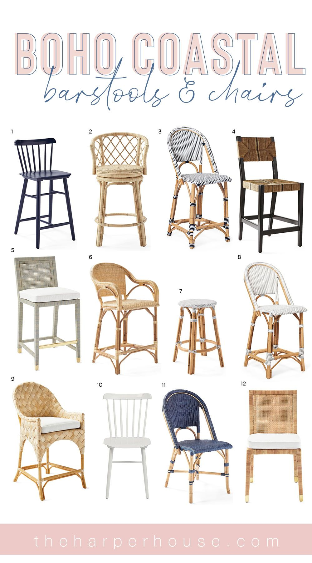 Serena And Lily Friends Family Sale The Harper House Kitchen Counter Stools Dining Chairs Cheap Home Decor