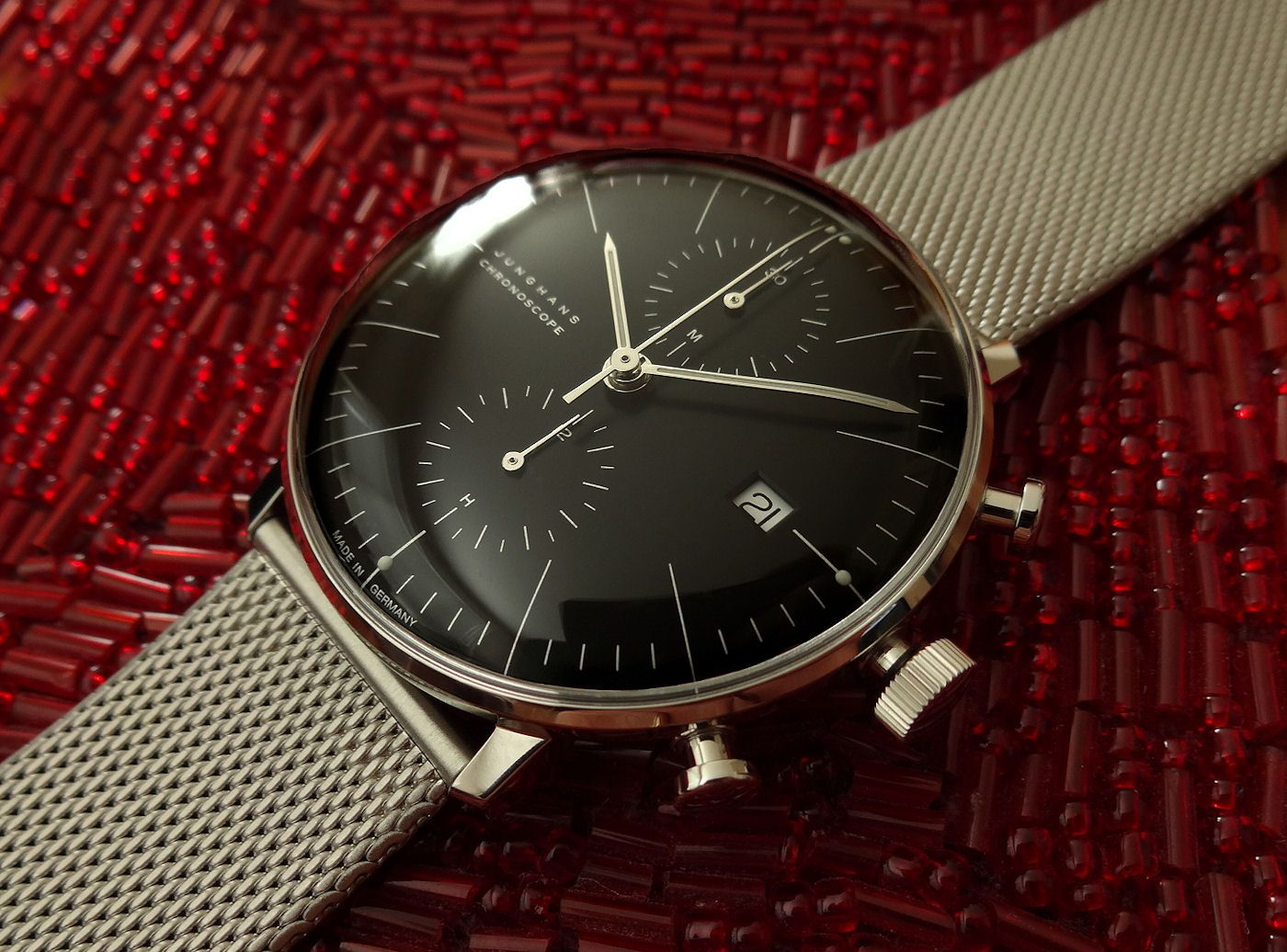 junghans my new max bill chronoscope watches. Black Bedroom Furniture Sets. Home Design Ideas