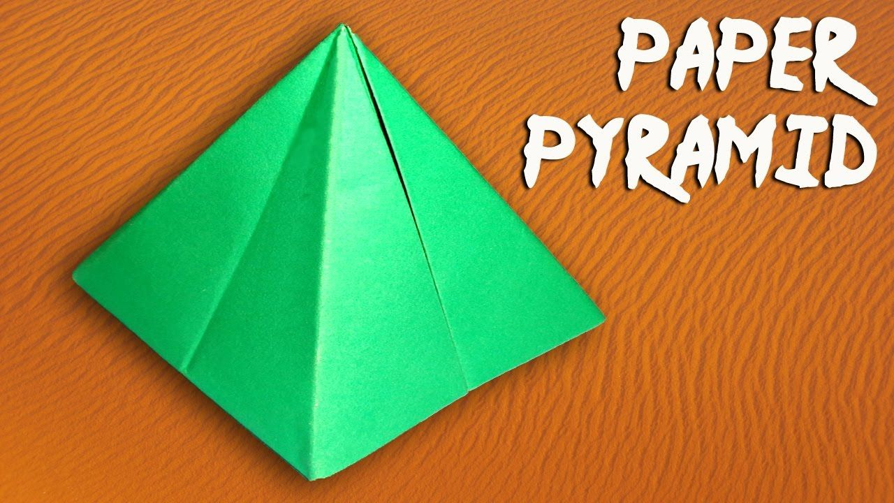 How To Make A Paper Pyramid Easily Diy Paper Crafts Paper