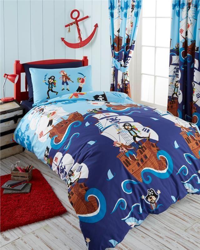 Kids Nautical Seaside Boys Bedding, Duvet Cover Set, Throw or ...