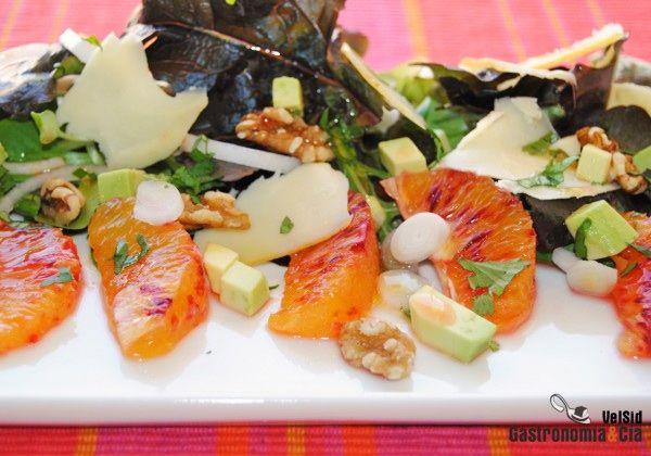 Recetas de ensaladas de frutas y verduras para navidad