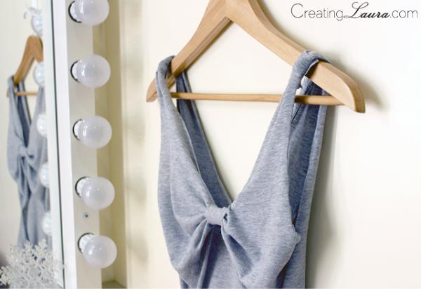 DIY: camiseta con espalda de lazo