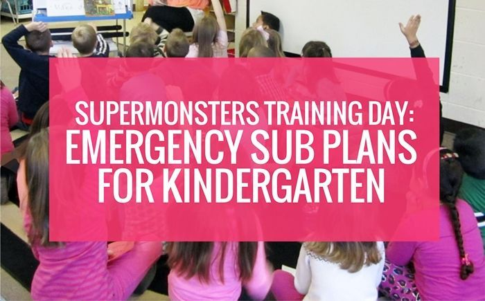 Free Emergency Sub Plans for Kindergarten: Supermonsters Training Day! #emergencysubplans Supermonsters Training Day - beginning of the year emergency sub plans for kindergarten #emergencysubplans