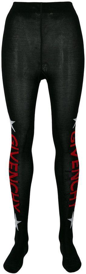 5a1e21ee2ac28 Givenchy logo print tights | Products | Tights, Givenchy, Logos