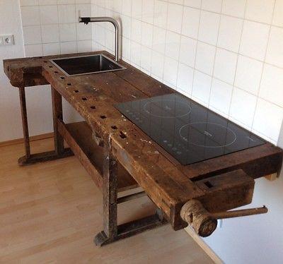 loftmöbel industrie vintage werkbank design Küche in Antiquitäten - gebrauchte küche ebay