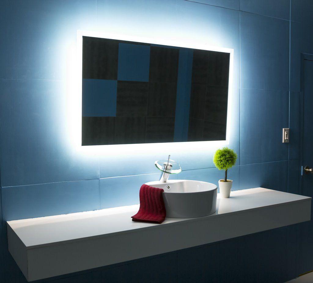 Image Gallery Website BACKLIT Bathroom MIRROR RECTANGLE X in