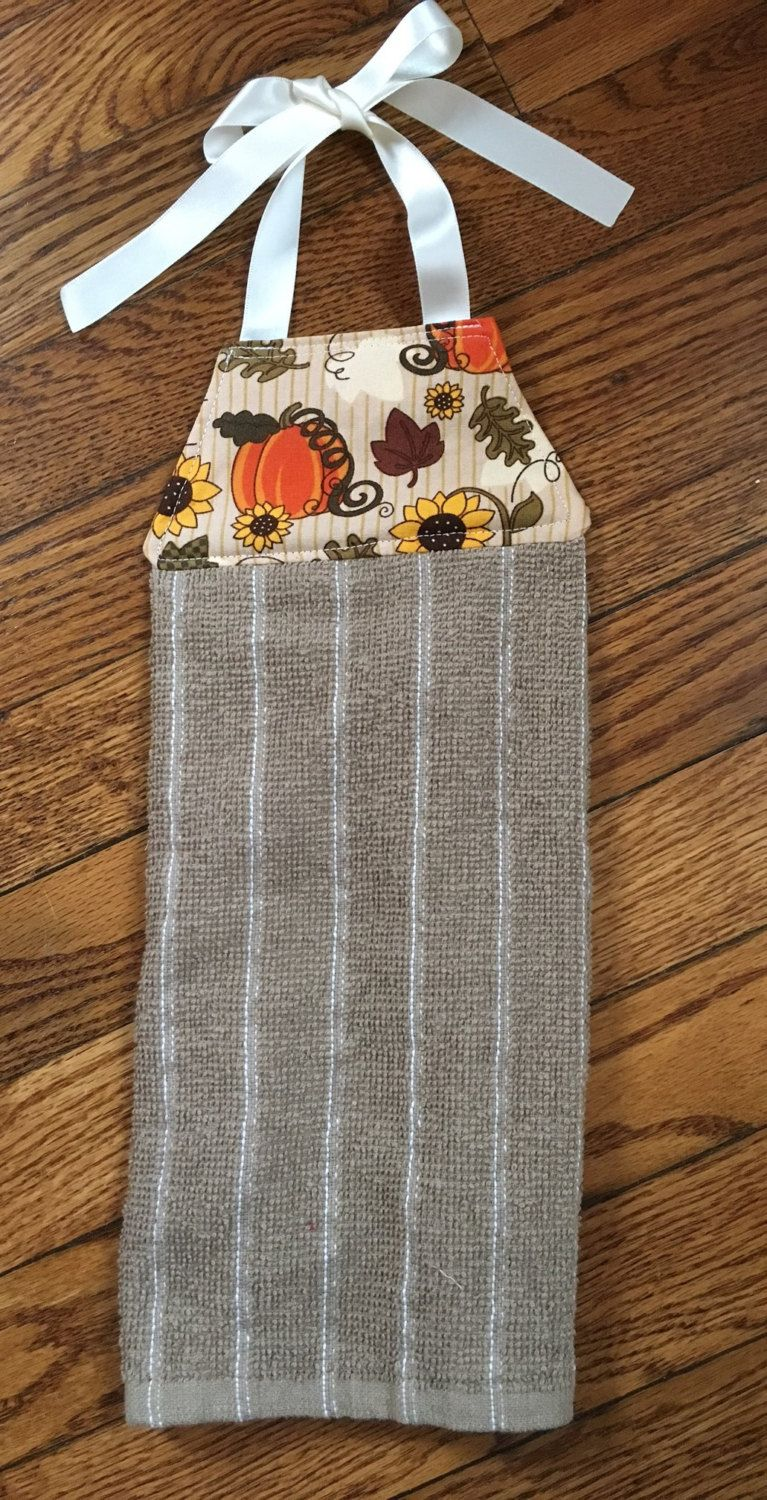 Fall Hanging Towel, Fall Tie Towel, Harvest Towel, Thanksgiving Towel,  Hanging Kitchen Towel, Tie Hanging Towel, Fall Decor, Fall Kitchen