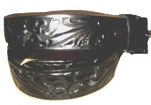 Brown Western Full Grain Leather Belts Rodeo Ranger Traditional Designs. Braided Tooled and Oil Tanned