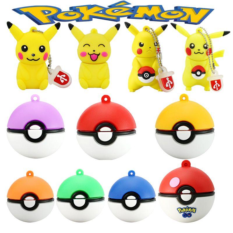 Mini Pen Drive Pokemon Pikachu Gift Pen Drive 8gb 16gb 32gb 64gb