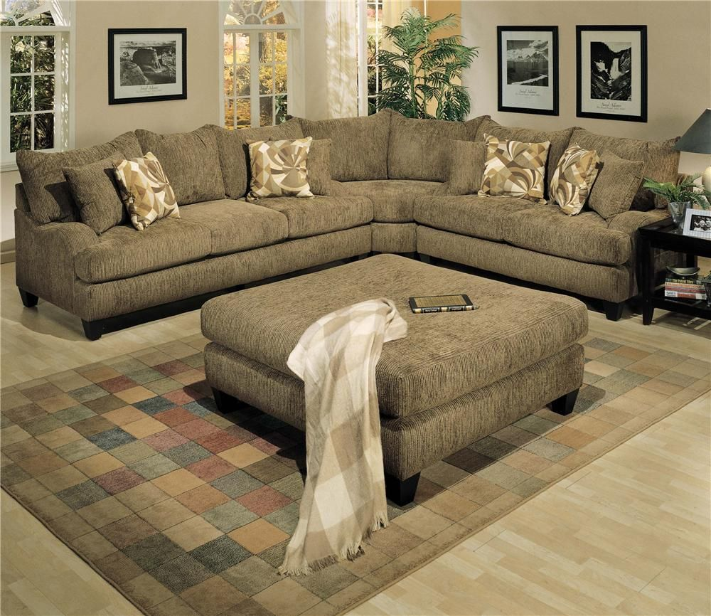 Longstreet Sofa And Loveseat With Corner Curve By Robert Michael