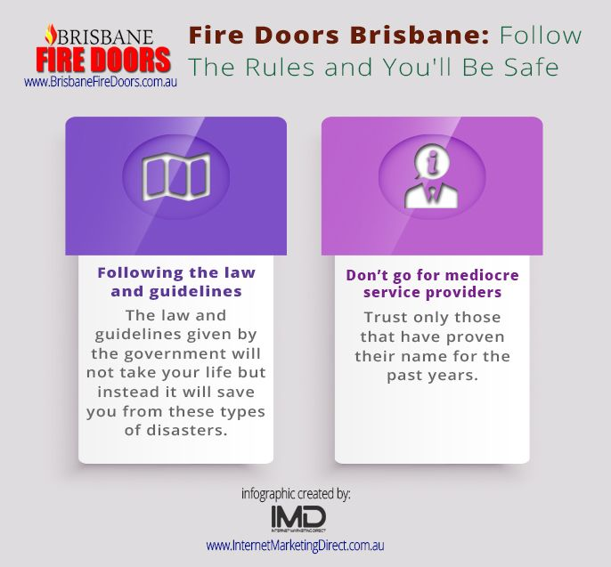 August - Fire Doors Brisbane - Follow The Rules and You'll Be Safe