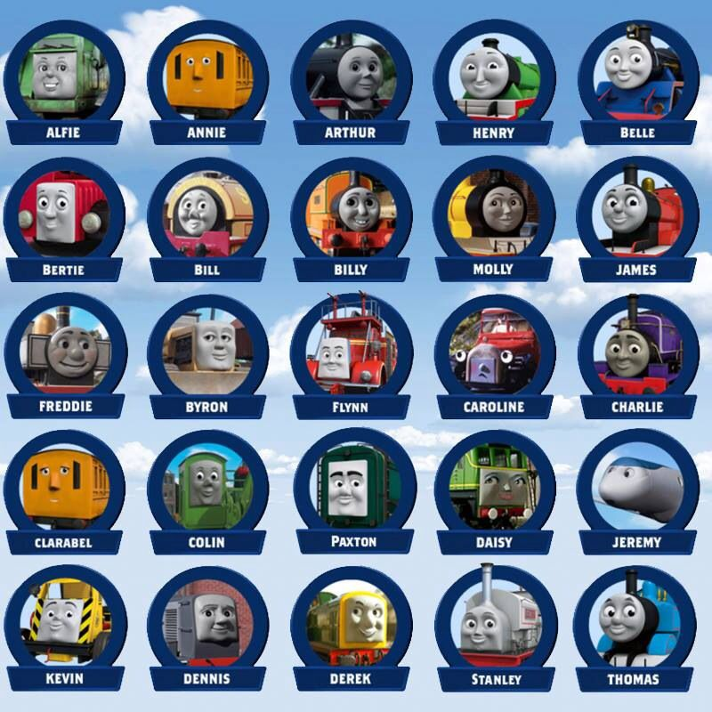 Thomas And Friends Characters Thomas The Train Boy Birthday Parties