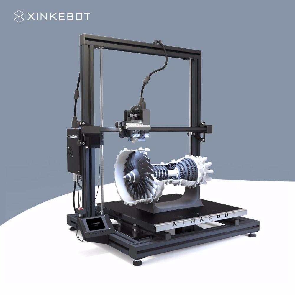 Large 3d Printer Dual Extruder Xinkebot Orca2 Cygnus 3d Printer 400x400x500mm Assembled All Metal Frame Hd Touchsc Large 3d Printer Metal 3d Printer 3d Printer