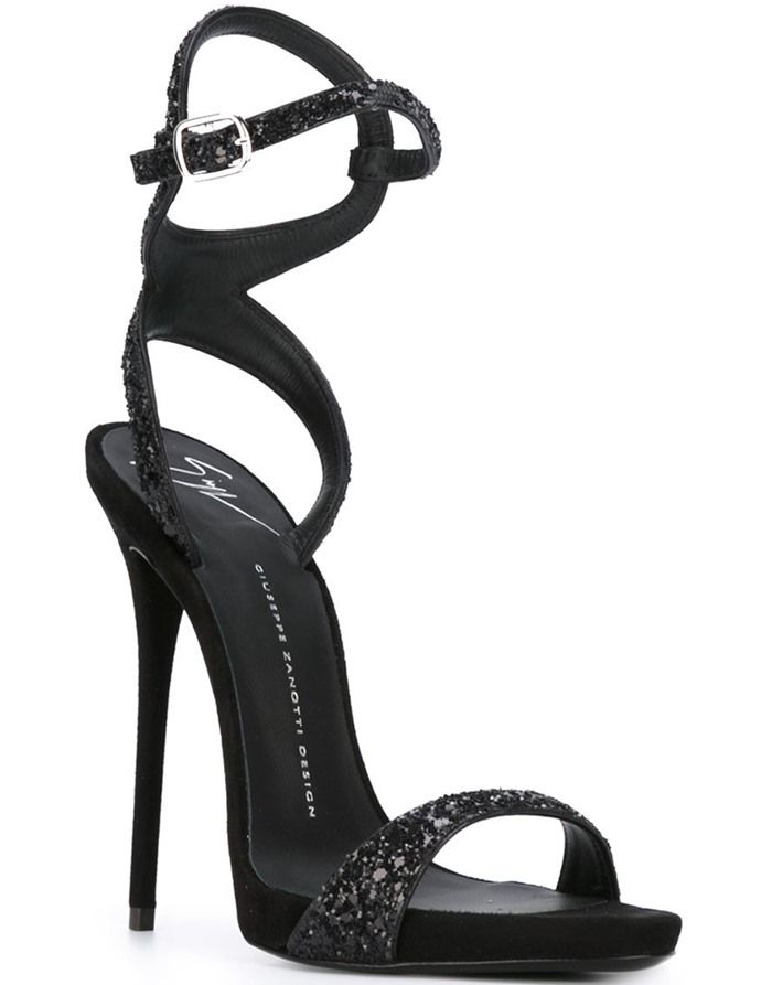 Giuseppe Zanotti Glitter strap sandals Cheap Purchase T2UNykR7