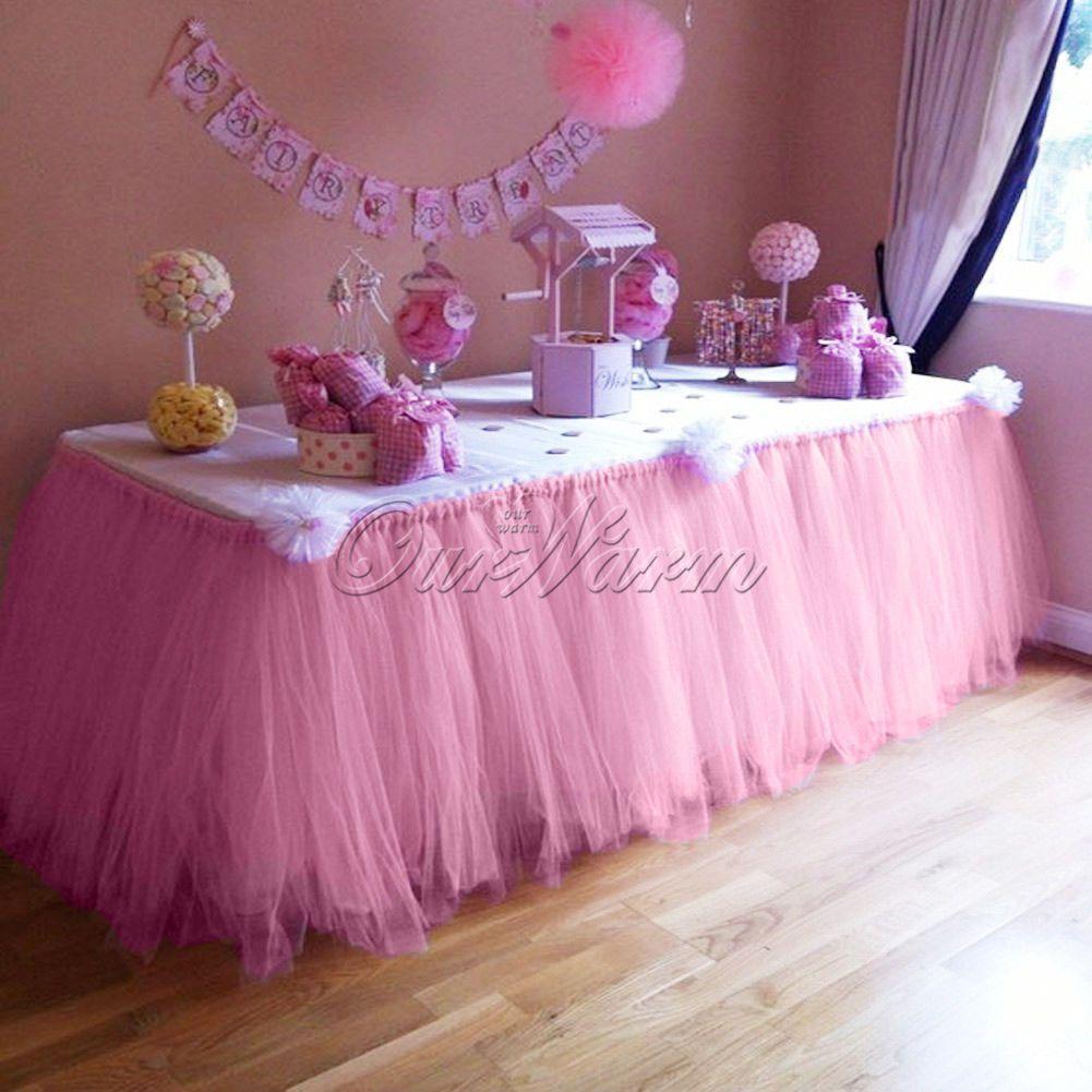 Pink Morbidezza Tutu Table Skirt Wedding Birthday Table Cover Tableware Decor Tutu Table Tulle Table Skirt Tutu Table Skirt