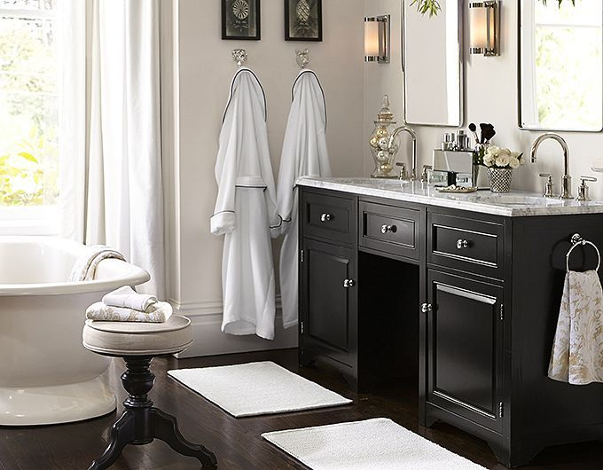 Potterybarn Traditional Bathroom Vanity Bathroom Floor Plans Pottery Barn Bathroom