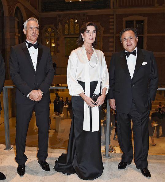 La Princesse Caroline de Hanovre a assisté au lancement du dîner de Gala AMADE au musée Rijksmuseum à Amsterdam.