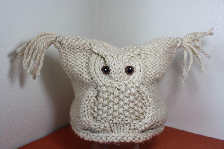 Knittedbabyhatsowl Owl Knit Hat Owl Toddler Hat Baby Owl Hat