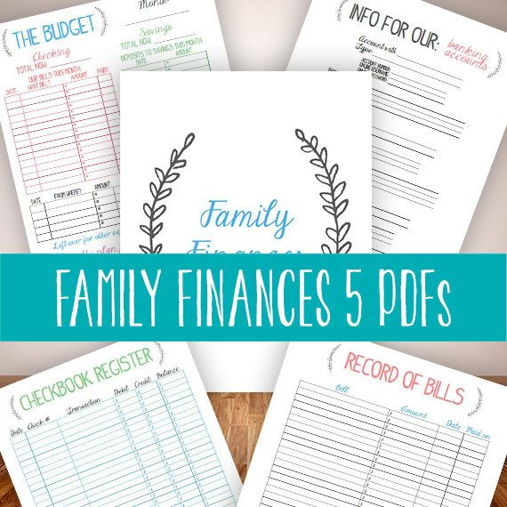 INSTANT DOWNLOAD family binder finances budget bills management - bill organizer chart