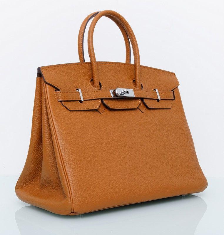 7c8149693b40 Сумка Hermes Birkin цвет светло-коричневый 35 см | Новые аксессуары ...