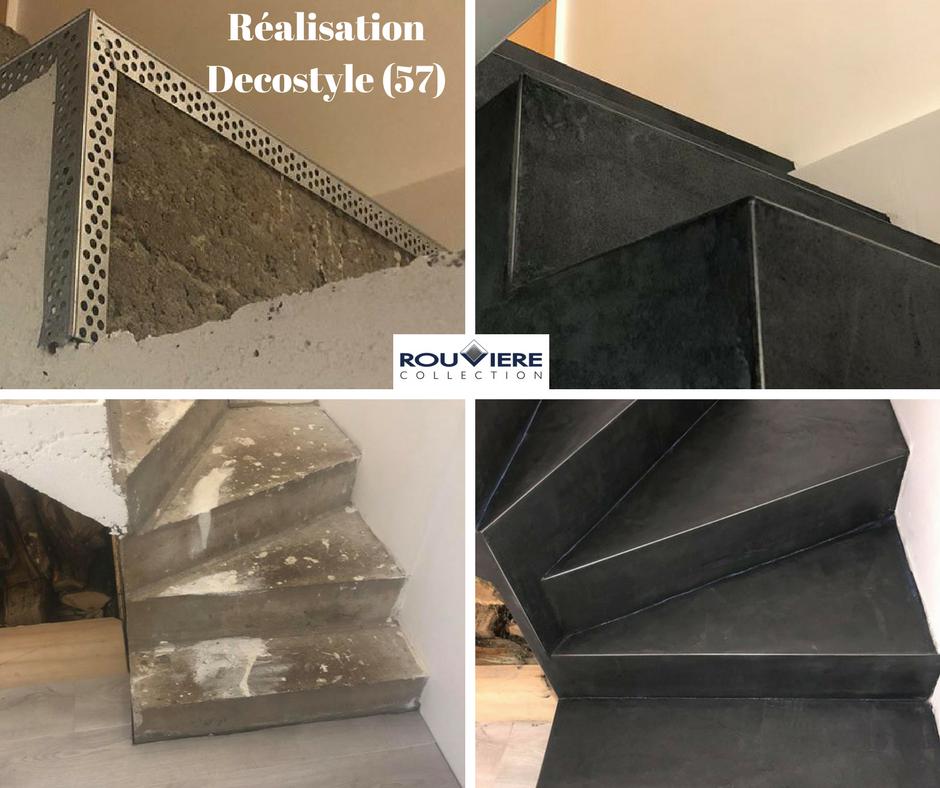 Modernisez Vos Escaliers Avec Un Revetement Enduit Beton Cire Habillage Escalier Beton Habillage Escalier Escalier Beton Cire