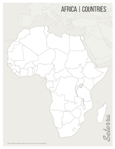 Blank printable Africa countries map (pdf) | Maps of Africa | Map ...