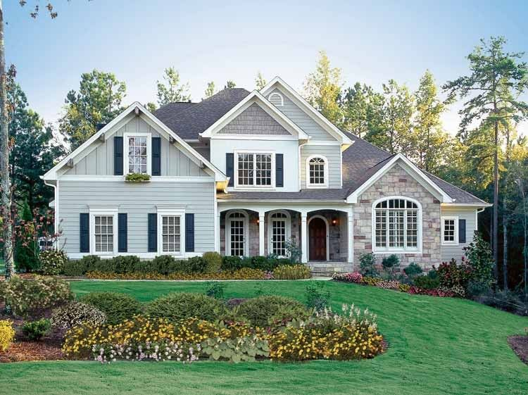 Traditional Style House Plan 4 Beds 3 5 Baths 3718 Sq Ft Plan 927 573 Country House Design American Houses American Home Design