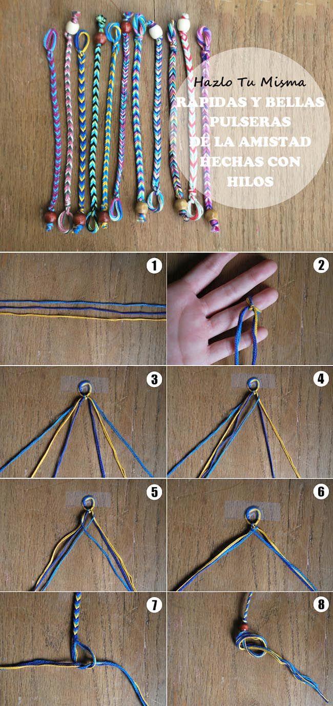 2ddd7658d6f7 Cómo hacer pulseras de hilo paso a paso