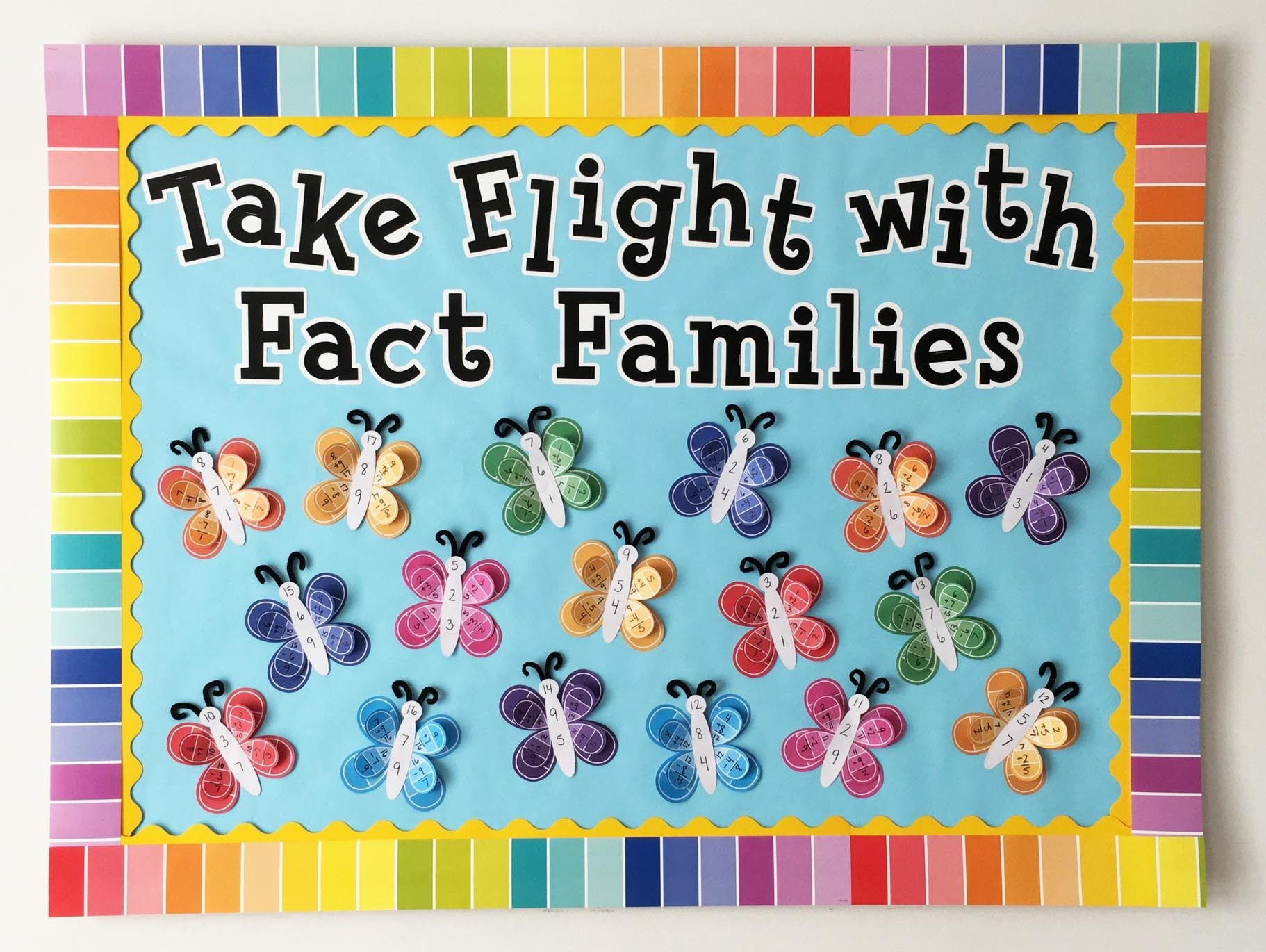 Springtime Fact Families Bulletin Board