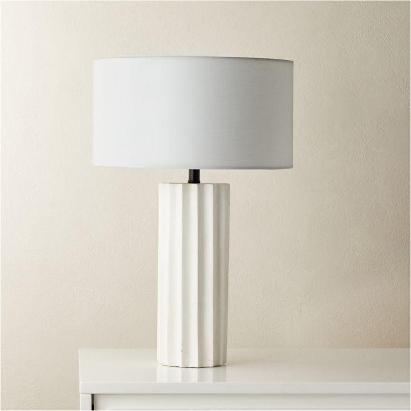 Scallop White Concrete Table Lamp Reviews Cb2 Concrete Table Lamp Table Lamp Concrete Table