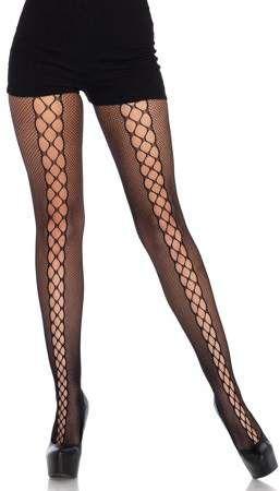 1b97c849db377 Leg Avenue Women's Lace-up Netted Pantyhose, One Size #Women#Avenue#Leg