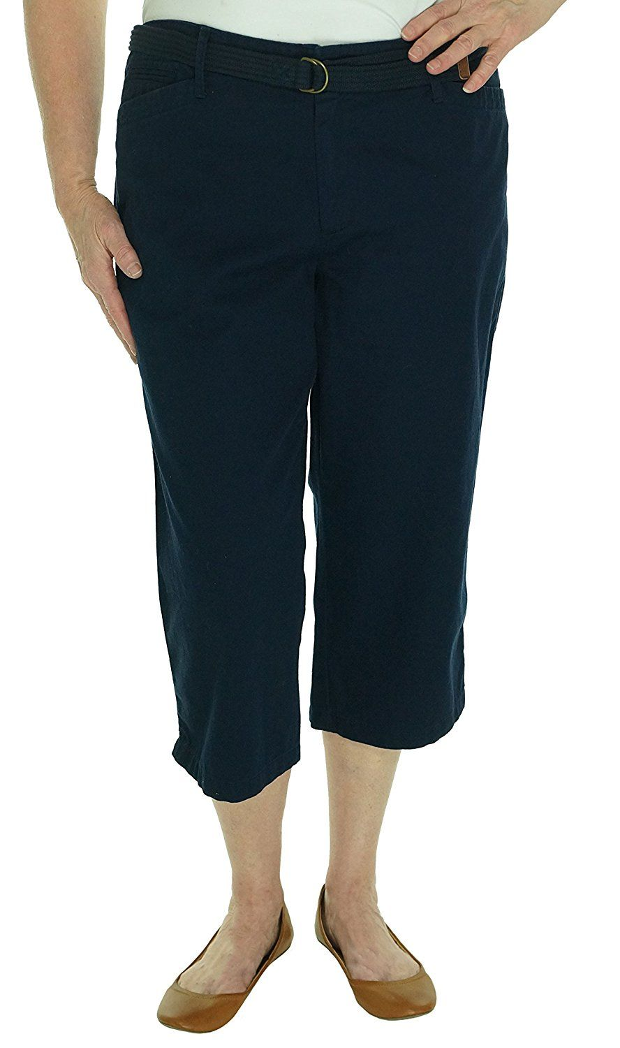 Lauren Jeans Co Womens Belted Cotton Capri Pants >>> Want additional info? Click on the image.