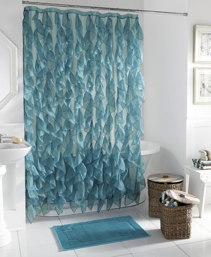 Shower Curtain Fabric Shimmer Silver And Aqua Mint Tiffany Blue With Images Teal Shower Curtains Black Shower Curtains