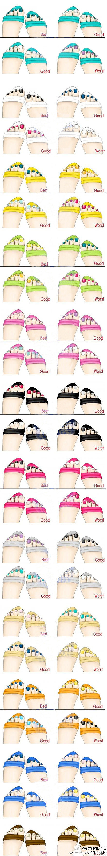 matching color toe nails