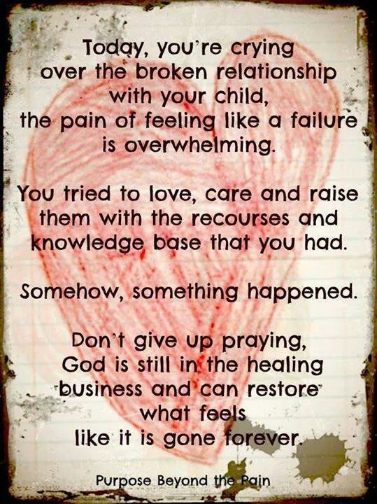 For help with healing the pain of estranged children and also the broken  relationship, look