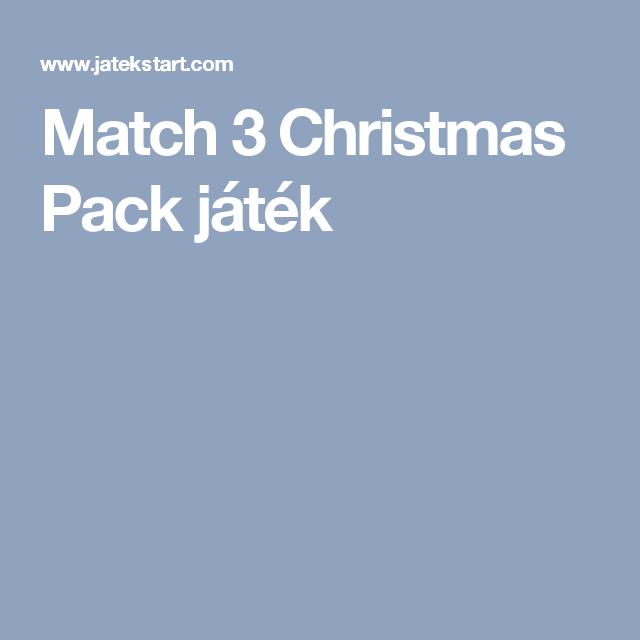 Match 3 Christmas Pack játék