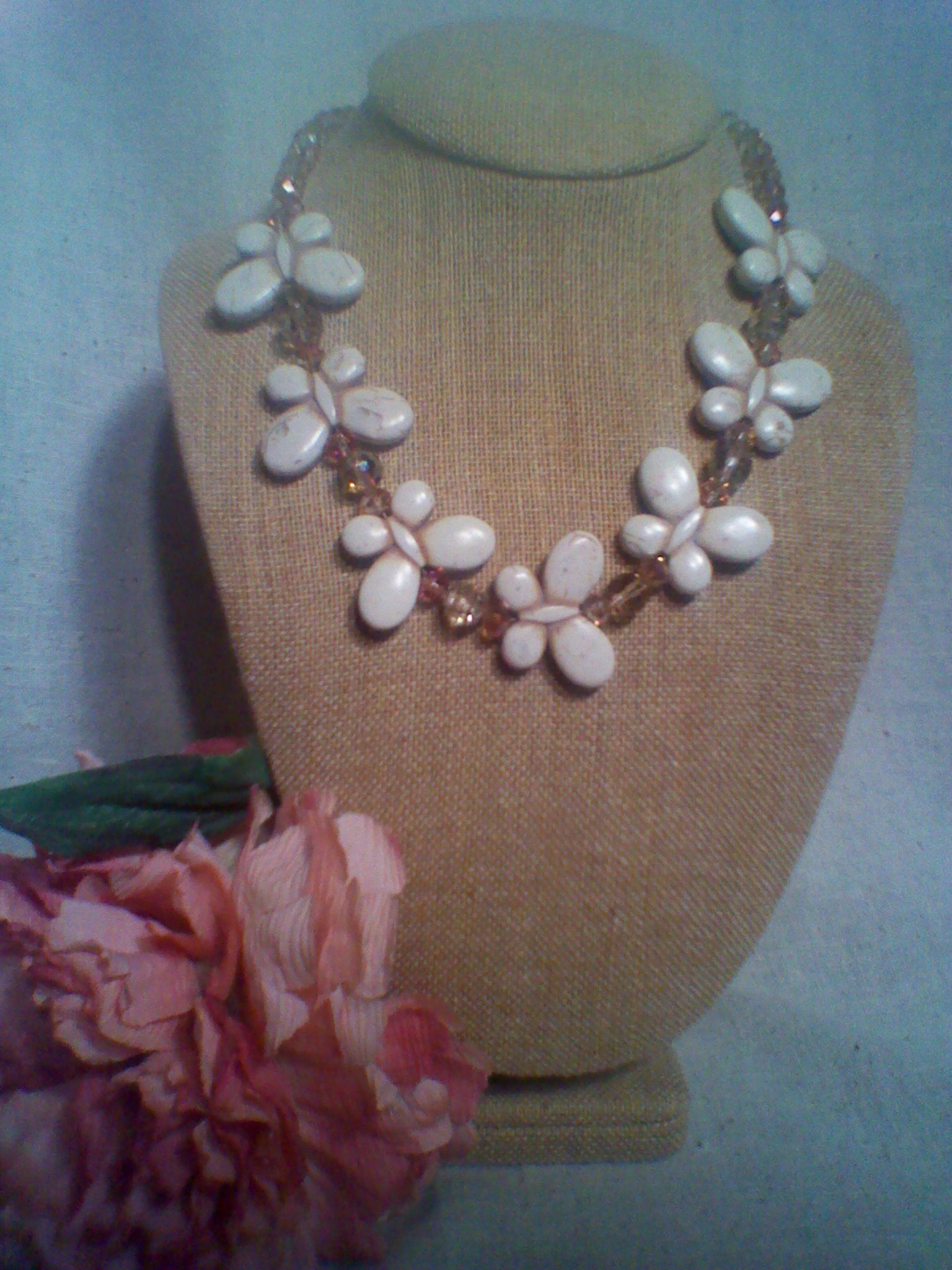 Designed by freda r gates beaded necklace statement