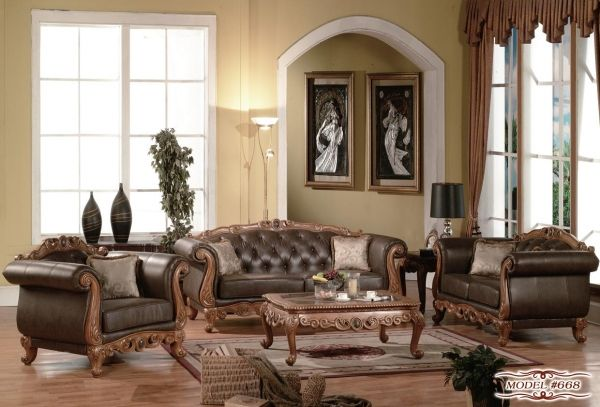 Carved Chesterfield Edwardian Style Sofa \ Loveseat Furniture